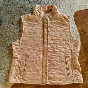 Van Heusen quilted fleece lined vest XL tan #426